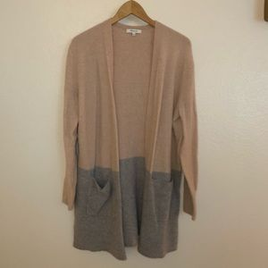 Madewell Duster Color Block Cardigan Sweater
